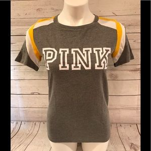 VS PINK CAMPUS COLORBLOCK TEE
